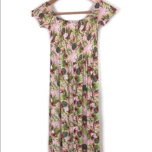 ❤️Salty Lemon Vintage Floral Maxi Dress Medium